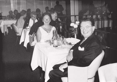 I.F. Stone and Esther Stone on anniversary cruise