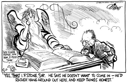 Oliphant I.F. Stone Cartoon